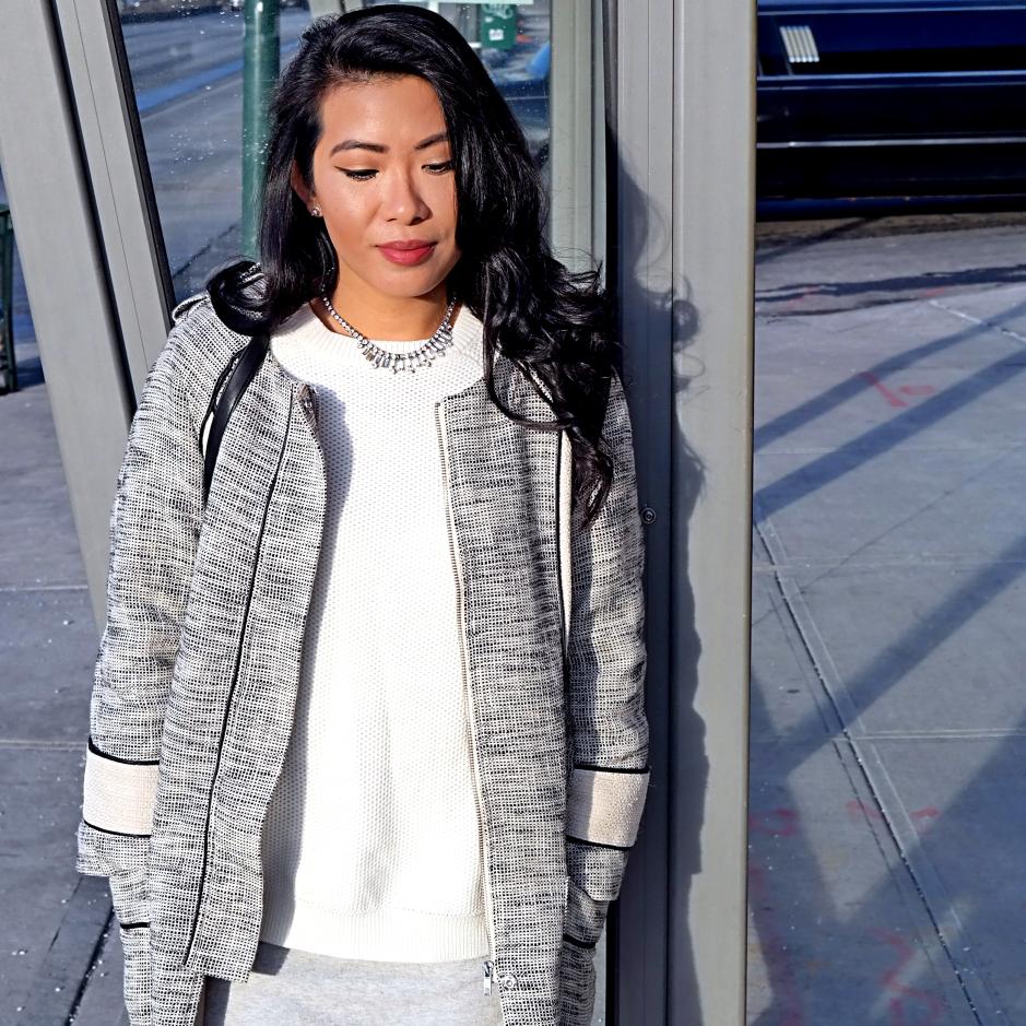 Cesthoa Woven jacket & pencil skirt 1