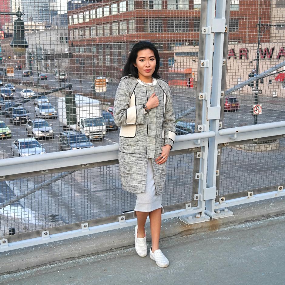 Cesthoa Woven jacket & pencil skirt 12