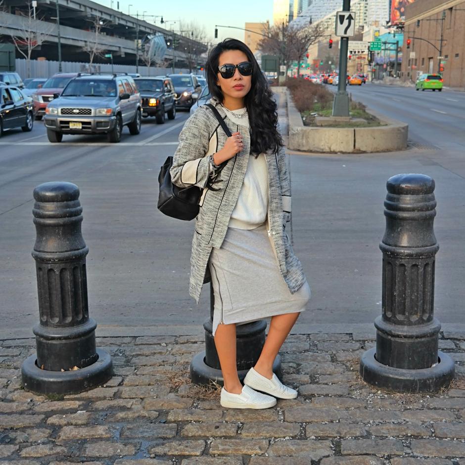 Cesthoa Woven jacket & pencil skirt 4