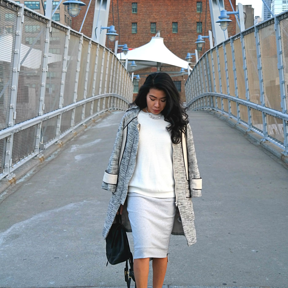 Cesthoa Woven jacket & pencil skirt 7